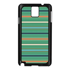 Horizontal Line Green Red Orange Samsung Galaxy Note 3 N9005 Case (black)