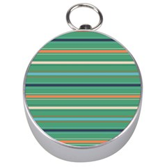 Horizontal Line Green Red Orange Silver Compasses