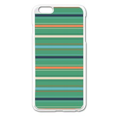 Horizontal Line Green Red Orange Apple Iphone 6 Plus/6s Plus Enamel White Case