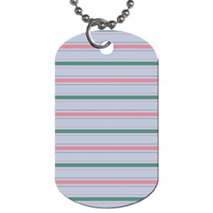 Horizontal Line Green Pink Gray Dog Tag (one Side)