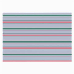 Horizontal Line Green Pink Gray Large Glasses Cloth