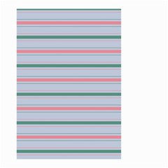Horizontal Line Green Pink Gray Small Garden Flag (two Sides)