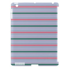 Horizontal Line Green Pink Gray Apple Ipad 3/4 Hardshell Case (compatible With Smart Cover)