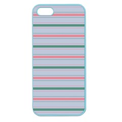 Horizontal Line Green Pink Gray Apple Seamless Iphone 5 Case (color)