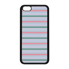 Horizontal Line Green Pink Gray Apple Iphone 5c Seamless Case (black)