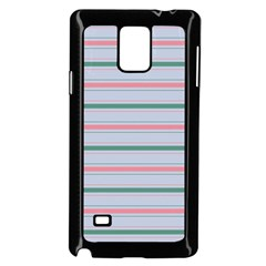 Horizontal Line Green Pink Gray Samsung Galaxy Note 4 Case (black)
