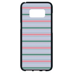 Horizontal Line Green Pink Gray Samsung Galaxy S8 Black Seamless Case