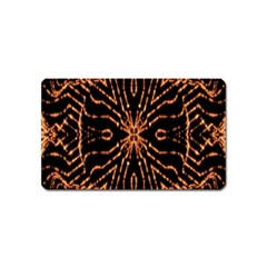 Golden Fire Pattern Polygon Space Magnet (name Card)