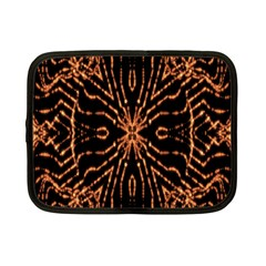 Golden Fire Pattern Polygon Space Netbook Case (small)
