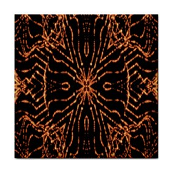 Golden Fire Pattern Polygon Space Face Towel
