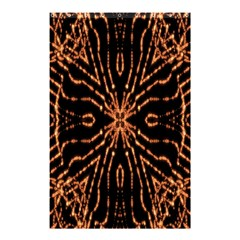 Golden Fire Pattern Polygon Space Shower Curtain 48  X 72  (small)