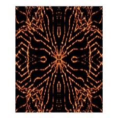 Golden Fire Pattern Polygon Space Shower Curtain 60  X 72  (medium)