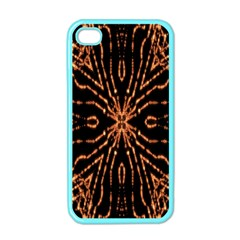 Golden Fire Pattern Polygon Space Apple Iphone 4 Case (color)