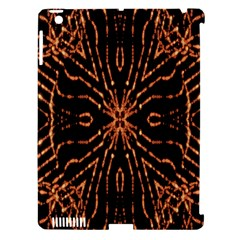 Golden Fire Pattern Polygon Space Apple Ipad 3/4 Hardshell Case (compatible With Smart Cover)