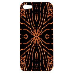 Golden Fire Pattern Polygon Space Apple Iphone 5 Hardshell Case