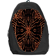 Golden Fire Pattern Polygon Space Backpack Bag
