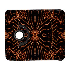 Golden Fire Pattern Polygon Space Galaxy S3 (flip/folio)