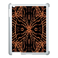 Golden Fire Pattern Polygon Space Apple Ipad 3/4 Case (white)