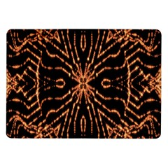Golden Fire Pattern Polygon Space Samsung Galaxy Tab 10 1  P7500 Flip Case