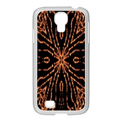 Golden Fire Pattern Polygon Space Samsung Galaxy S4 I9500/ I9505 Case (white)