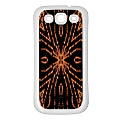 Golden Fire Pattern Polygon Space Samsung Galaxy S3 Back Case (white)