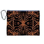 Golden Fire Pattern Polygon Space Canvas Cosmetic Bag (XL) Front