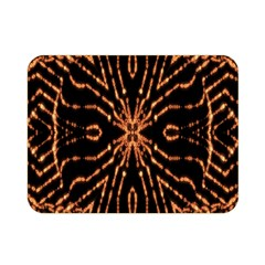 Golden Fire Pattern Polygon Space Double Sided Flano Blanket (mini)
