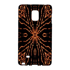 Golden Fire Pattern Polygon Space Galaxy Note Edge