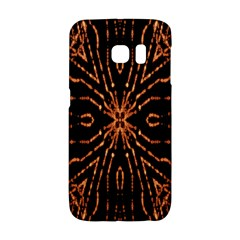Golden Fire Pattern Polygon Space Galaxy S6 Edge