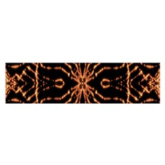 Golden Fire Pattern Polygon Space Satin Scarf (oblong)