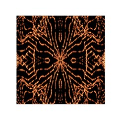 Golden Fire Pattern Polygon Space Small Satin Scarf (square)