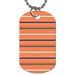 Horizontal Line Orange Dog Tag (one Side)