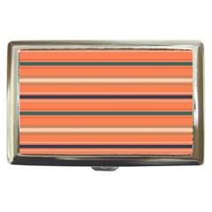 Horizontal Line Orange Cigarette Money Cases