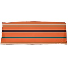Horizontal Line Orange Body Pillow Case Dakimakura (two Sides)