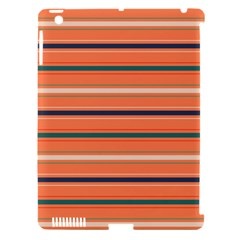 Horizontal Line Orange Apple Ipad 3/4 Hardshell Case (compatible With Smart Cover)