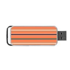 Horizontal Line Orange Portable Usb Flash (two Sides)