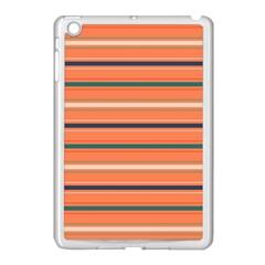 Horizontal Line Orange Apple Ipad Mini Case (white)