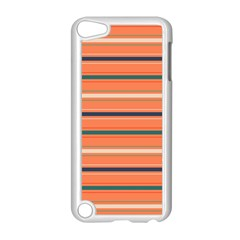 Horizontal Line Orange Apple Ipod Touch 5 Case (white)