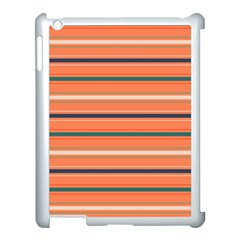 Horizontal Line Orange Apple Ipad 3/4 Case (white)