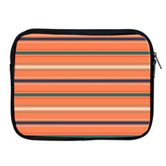 Horizontal Line Orange Apple Ipad 2/3/4 Zipper Cases