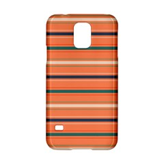 Horizontal Line Orange Samsung Galaxy S5 Hardshell Case