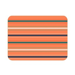 Horizontal Line Orange Double Sided Flano Blanket (mini)