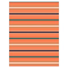 Horizontal Line Orange Drawstring Bag (large)
