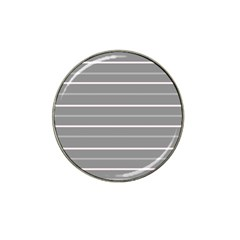 Horizontal Line Grey Pink Hat Clip Ball Marker (4 Pack)