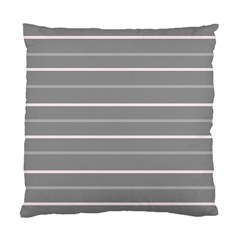 Horizontal Line Grey Pink Standard Cushion Case (one Side)