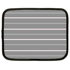 Horizontal Line Grey Pink Netbook Case (xxl)