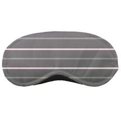 Horizontal Line Grey Pink Sleeping Masks