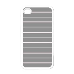 Horizontal Line Grey Pink Apple Iphone 4 Case (white)