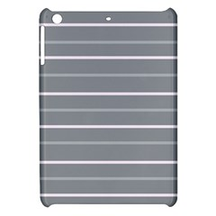 Horizontal Line Grey Pink Apple Ipad Mini Hardshell Case