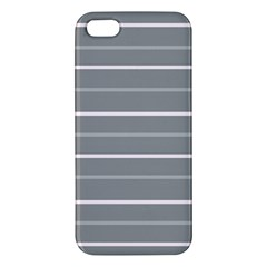Horizontal Line Grey Pink Iphone 5s/ Se Premium Hardshell Case